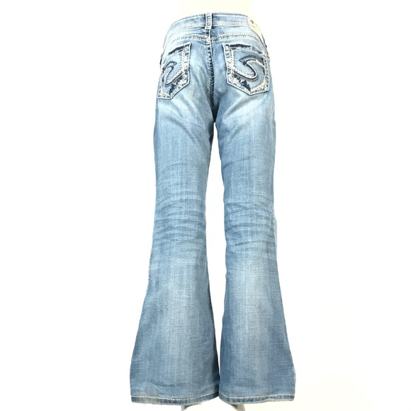Silver suki mid flare jeans 29x30